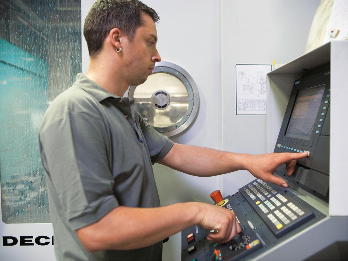 Merkel Manufaktur CNC-Maschine Detail