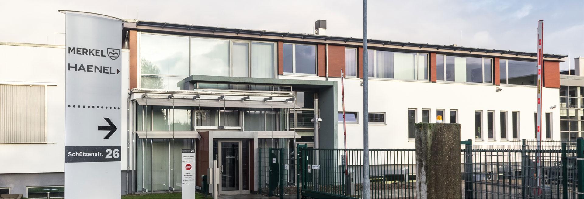 Merkel Unternehmen Slider Firmengebäude